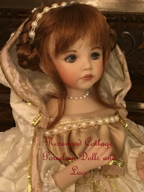 victorian doll ornaments porcelain dolls and lace